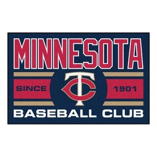 Fanmats Minnesota Twins Blue Nylon Uniform Inspired Stater Rug (1'6 x 2'5)