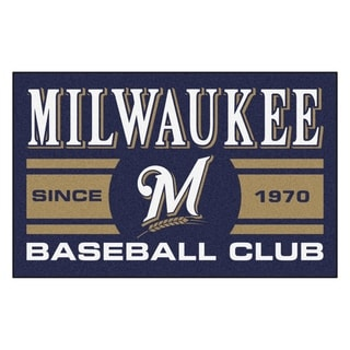 Fanmats Milwaukee Brewers Blue Nylon Uniform Inspired Stater Rug (1'6 x 2'5)