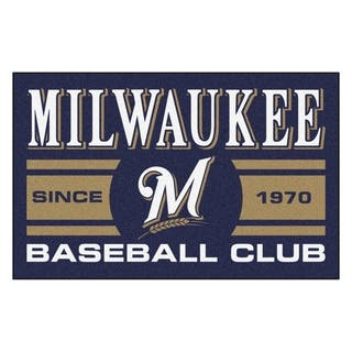 Fanmats Milwaukee Brewers Blue Nylon Uniform Inspired Stater Rug (1'6 x 2'5)|https://ak1.ostkcdn.com/images/products/10383263/P17488205.jpg?impolicy=medium