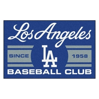 Fanmats Los Angeles Dodgers Blue Nylon Uniform Inspired Stater Rug (1'6 x 2'5)