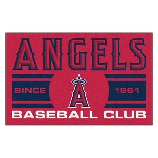 Fanmats Los Angels Angels Red Nylon Uniform Inspired Stater Rug (1'6 x 2'5)