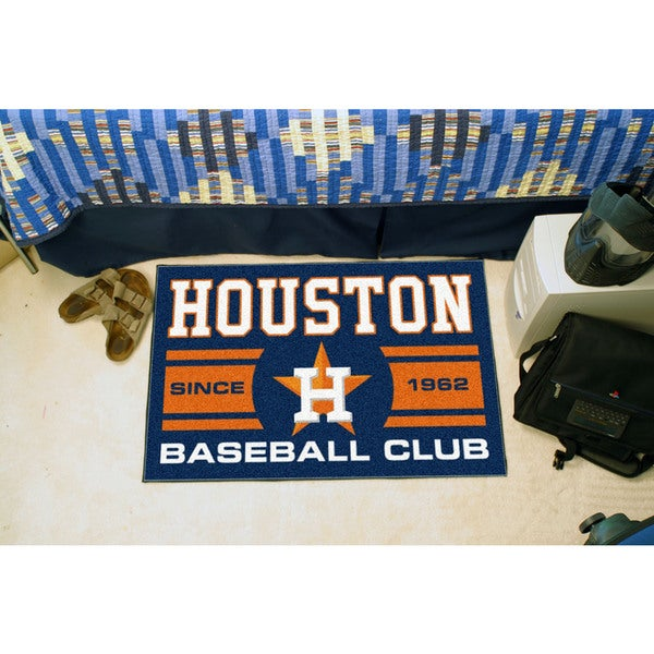 Fanmats Houston Astros Blue Nylon Uniform Inspired Stater Rug (1'6 x 2'5)