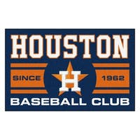 Fanmats Houston Astros Blue Nylon Uniform Inspired Stater Rug (1'6 x 2'5)