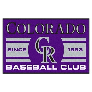 Fanmats Colorado Rockies Purple Nylon Uniform Inspired Stater Rug (1'6 x 2'5)