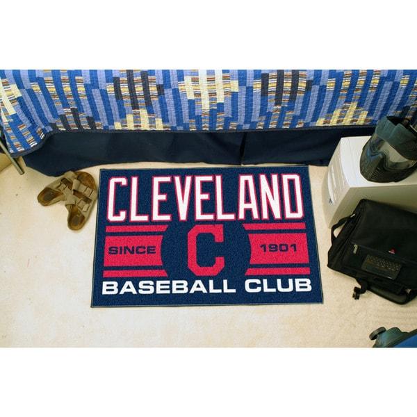 Fanmats Cleveland Indians Blue Nylon Uniform Inspired Stater Rug (1'6 x 2'5)