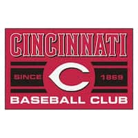 Fanmats Cincinnati Reds Red Nylon Uniform Inspired Stater Rug (1'6 x 2'5)