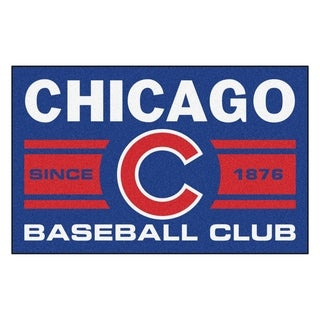 Chicago Cubs Uniform Inspired Stater Rug (1'6 x 2'5)