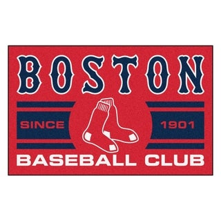 Fanmats Boston Red Sox Red Nylon Uniform Inspired Stater Rug (1'6 x 2'5)