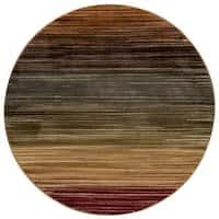 Nourison Paramount Multicolor Round Rug - 5'3 x 5'3