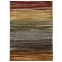 Nourison Paramount Multicolor Rug - Brown - 5'3 x 7'3