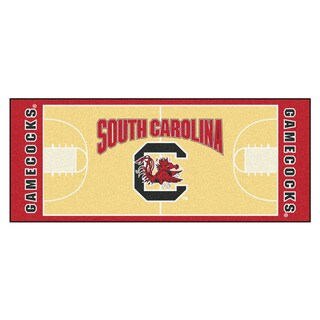 Fanmats University of South Carolina Tan Nylon Basketball Court Runner (2'5 x 6')