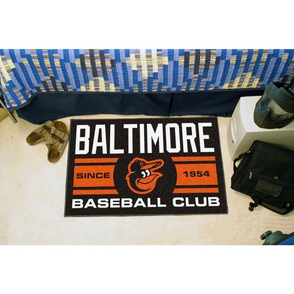 Fanmats Baltimore Orioles Black Nylon Uniform Inspired Stater Rug (1'6 x 2'5)
