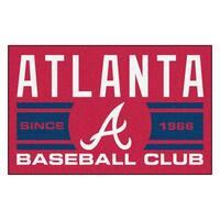 Fanmats Atlanta Braves Red Nylon Uniform Inspired Stater Rug (1'6 x 2'5)