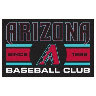 Fanmats Arizona Diamondbacks Black Nylon Uniform Inspired Stater Rug (1'6 x 2'5)