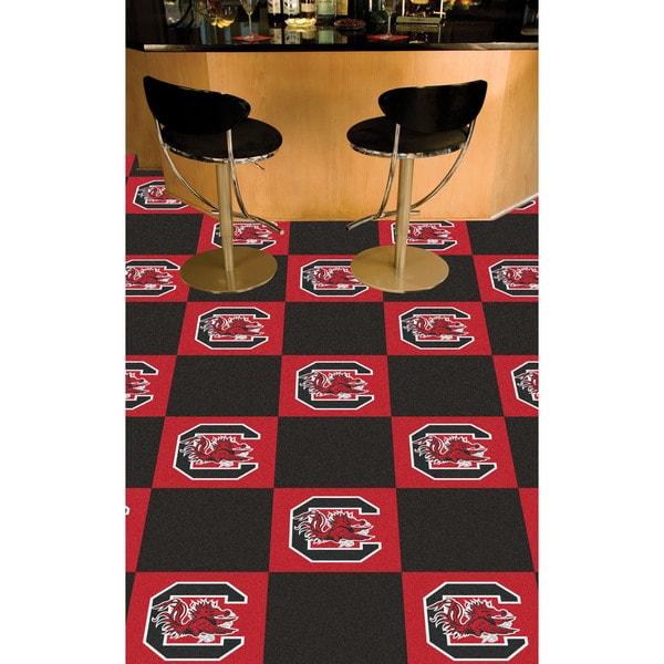 Fanmats University of South Carolina Fiber Carpet Team Carpet Tiles (1'6 x 1'6)