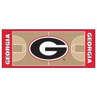 Fanmats University of Georgia Tan Nylon Basketball Court Runner (2'5 x 6')