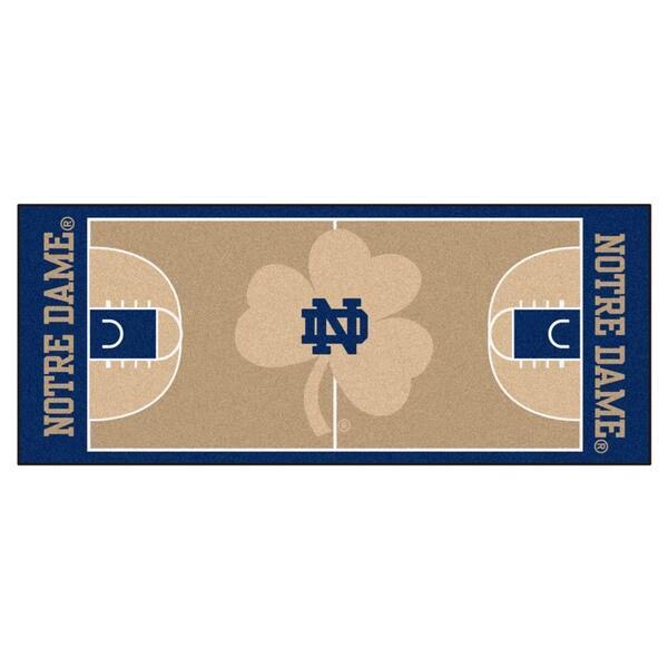 Fanmats Notre Dame Tan Nylon Basketball Court Runner (2'5 x 6')
