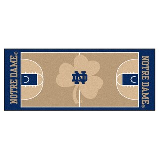 Fanmats Notre Dame Tan Nylon Basketball Court Runner (2'5 x 6')