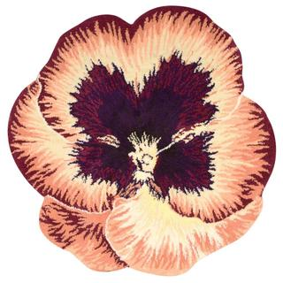 Nourison Petals Orange Square Rug (4' x 4')