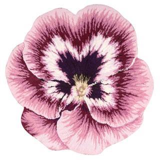 Nourison Petals Pink Square Rug (4' x 4') - 4' x 4'