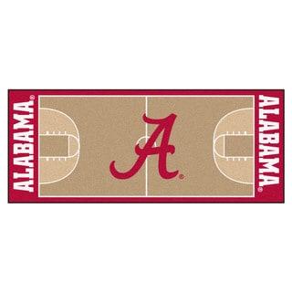 Fanmats University of Alabama Tan Nylon Basketball Court Runner (2'5 x 6')