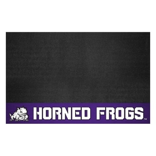Fanmats Texas Christian University Black Vinyl Grill Mat 2'2 x 3'5)