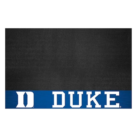 "Duke University Black Vinyl Grill Mat 26""x42"""