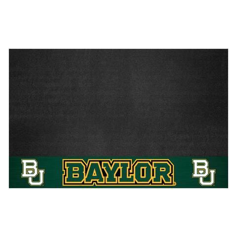 """Baylor University Black Vinyl Grill Mat 26""""x42"""""""