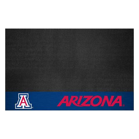 "University of Arizona Black Vinyl Grill Mat 26""x42"""