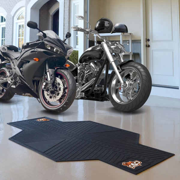 Fanmats Bowling Green State University Black Rubber Motorcycle Mat (6'9 x 3'5)