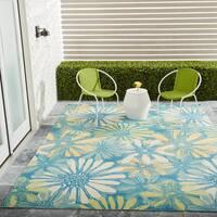 Nourison Home & Garden Indoor/Outdoor Blue Rug - 5'3 x 7'5
