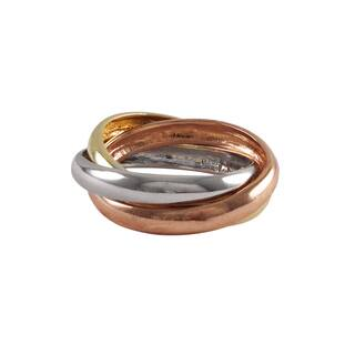 Luxiro Sterling Silver Tri-color Gold Finish Stacked Ring - White|https://ak1.ostkcdn.com/images/products/10383422/P17488096.jpg?impolicy=medium