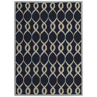 Nourison Decor Navy Rug (5' x 7')