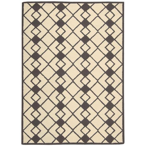 Nourison Decor Ivory Grey Rug (5' x 7')