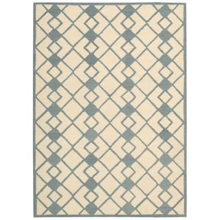 Nourison Decor Ivory Blue Rug (5' x 7')