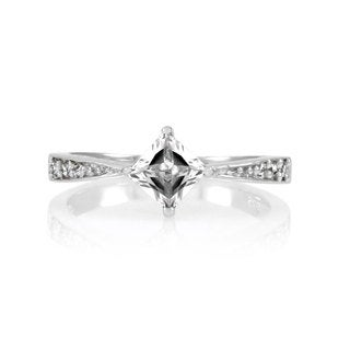 Sterling Silver Princess Cut CZ Promise Ring