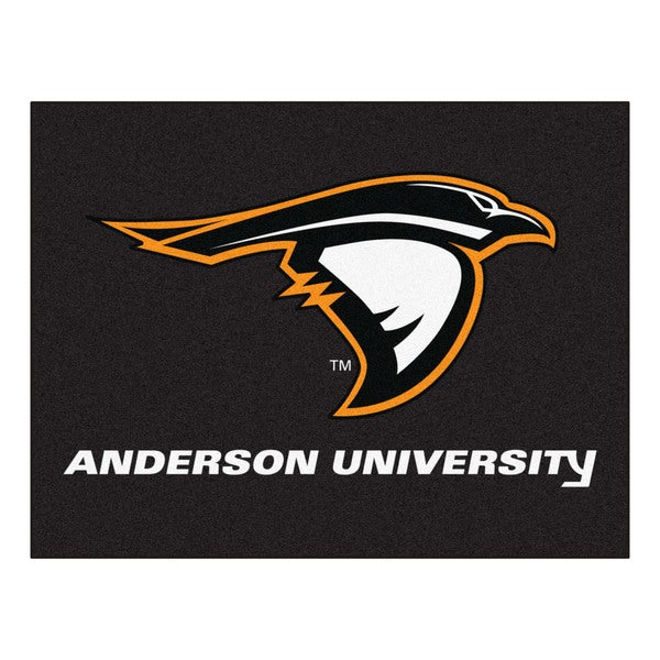 Fanmats Anderson University Black Nylon All Star Mat (2'8 x 3'8)