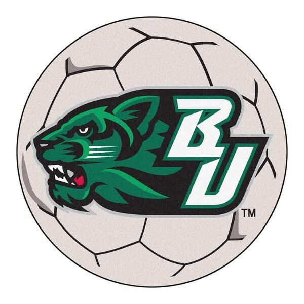 Fanmats Binghamton University White Nylon Soccer Ball Mat (2'2 x 2'2)