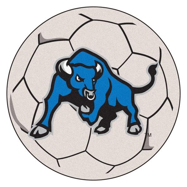 Fanmats State University of New York at Buffalo White Nylon Soccer Ball Mat (2'2 x 2'2)