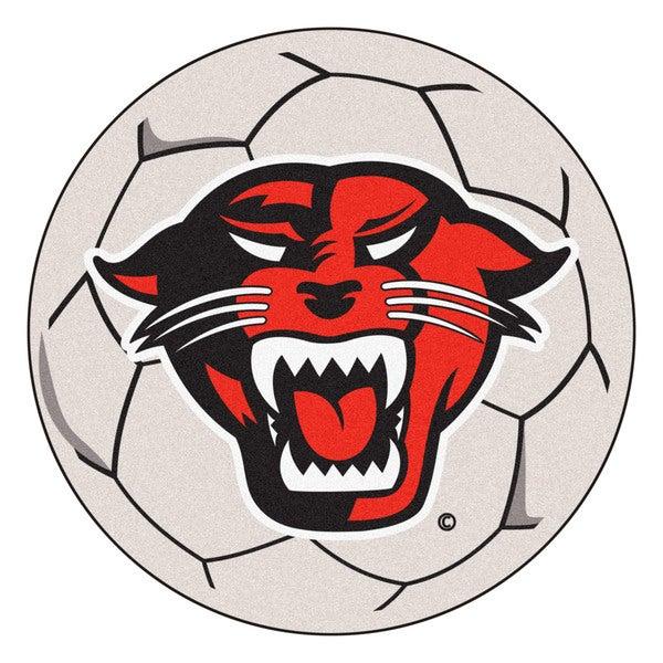 Fanmats Davenport University White Nylon Soccer Ball Mat (2'2 x 2'2)