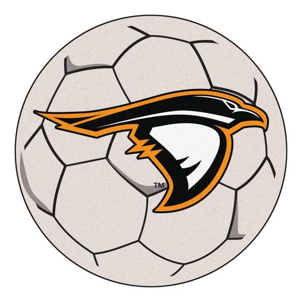 Fanmats Anderson University White Nylon Soccer Ball Mat (2'2 x 2'2)