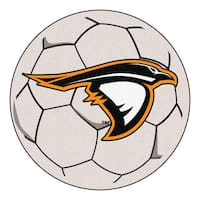 Fanmats Anderson University White Nylon Soccer Ball Mat (2'2 x 2'2)