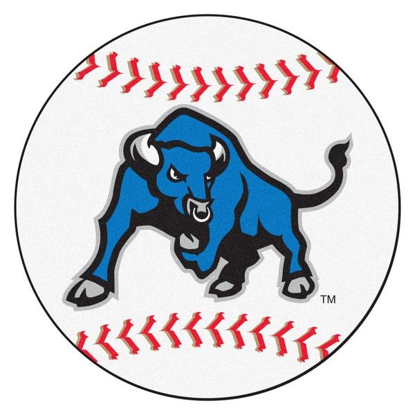 Fanmats State University of New York at Buffalo White Nylon Baseball Mat (2'2 x 2'2)