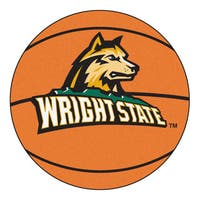 Fanmats Wright State University Orange Nylon Basketball Mat (2'2 x 2'2)