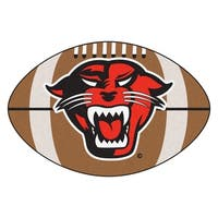 Fanmats Davenport University Brown Nylon Football Mat (1'8 x 2'9)