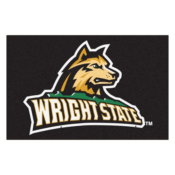 Fanmats Wright State University Black Nylon Stater Rug (1'6 x 2'5)