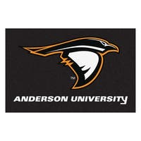 Fanmats Anderson University Black Nylon Stater Rug (1'6 x 2'5)