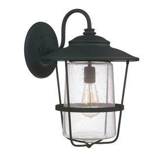 Capital Lighting Creekside Collection 1-light Black Outdoor Wall Lantern