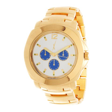 Xtreme Men's Gold Case and White Dial / Gold Strap Watch