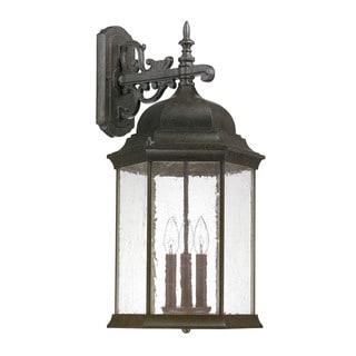 Capital Lighting Mainstreet Collection 3-light New Tortoise Outdoor Wall Lantern